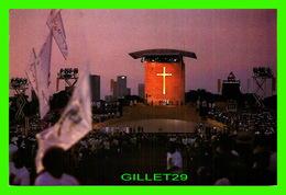 RELIGIONS - LA VEILLÉE DU PAPE JEAN-PAUL II À LONGCHAMPS EN 1997 - PHOTO ALAIN GESCON - CIRCULÉE EN 2004 - - Papes