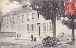 CPA 38 @ GRESSE - La Mairie Et Les Ecoles En 1907 - Charette à Bras - France