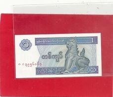 CENTRAL BANK OF MYANMAR . 1 KYAT  . 2 SCANES - Myanmar
