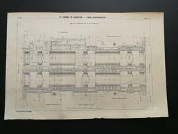 ANNALES PONTS Et CHAUSSEES (Allemagne) Plan De IV Congrès De Navigation - Canal Kaiser - Wilhelm - 1903 (CLB97) - Nautical Charts