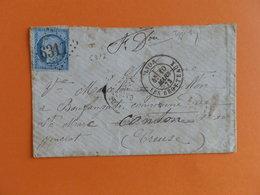 CERES DENTELE 60 SUR LETTRE DE LYON LES BROTTEAUX A ST MARC DU 10 MARS 1873 (GROS CHIFFRE 6317) - 1849-1876: Periodo Classico