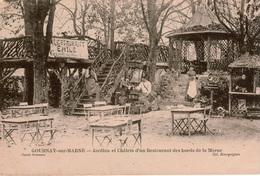Cpa 93 GOURNAY-sur-MARNE Restaurant Emile Jardinets Et Chalets Des Bords De Marne, Animée, Gramophone , Cachet Convoyeur - Gournay Sur Marne