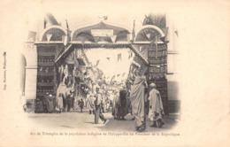 R110431 Arc De Triomphe De La Population Indigene De Philippeville Au President De La Republique. B. Hopkins - Wereld
