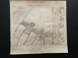 ANNALES PONTS Et CHAUSSEES (Dep 92) - Plan Du Barrage De Suresnes Sur La Seine - Graveur Macquet 1889 (CLB100) - Cartes Marines