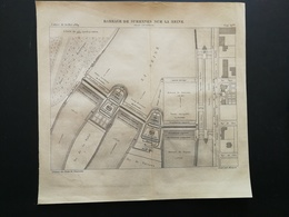 ANNALES PONTS Et CHAUSSEES (Dep 92) - Plan Du Barrage De Suresnes Sur La Seine - Graveur Macquet 1889 (CLB100) - Nautical Charts