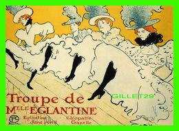ADVERTISING - PUBLICITÉ - TROUPE DE MLLE ÉGLANTINE EN 2001 - - Publicité