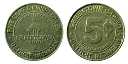 04598 GETTONE JETON TOKEN GREEKTOWN CASINO DETROIT MICHIGAN FIVE CENT - Casino