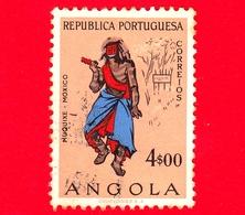 ANGOLA - Usato - 1957 - Personaggi E Figure Caratteristiche Angolane - Muquixe - Moxico - 4.00 - Angola