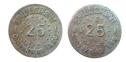 04386 GETTONE JETON TOKEN DENMARK AMUSEMNT GAMING SPILLEMONT 25 OMVEKSLES  IKKE - Unclassified