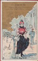 Old Chromo Winkel Ostende Dick' S Rue De La Chapelle Chaussures Impermeables Rue Des Champs Gand Litho Lithographie - Altri