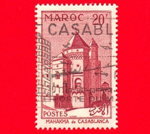 MAROCCO - Usato - 1955 - Architettura - Mahakma - Casablanca -  20 - Marocco (1891-1956)