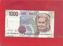 BANCA D'ITALIA . 1.000 LIRE . M. MONTESSORI . 3-10-1990 N° UD 704866 B   . 2 SCANES - [ 2] 1946-… : Républic
