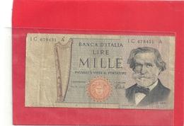 BANCA D'ITALIA . 1.000 LIRE . G. VERDI . 5-8-1975 - N° IC 679431 A   . 2 SCANES - [ 2] 1946-… : Républic