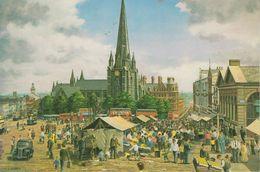 Modern Postcard Of The Old Bull Ring, Birmingham 1954 By Robert J Calvert(11218) - Coventry