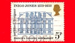 GB  UK GRAN BRETAGNA - Usato - 1973 - 400 Anni Della Nascita Di Inigo Jones, Architetto E Progettista - Prince's Lodging - Usati