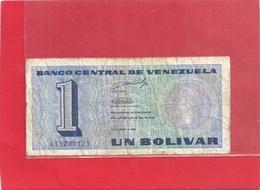 BANCO CENTRAL DE VENEZUELA - UN BOLIVAR . 5-10-1989 . N° A 13271121   . 2 SCANES - Venezuela