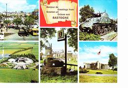 BASTOGNE (Belgique) Le Mardasson, Char Américain, Tourelle, Petit Train Touristique, Ed. Thill 1980 Environ - Bastogne