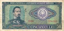 N.  1 Banconota  Da 50  LEI -    ROMANIA   REPUBBLICA  SOCIALISTA  -  Anno 1966. - Rumania