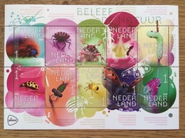 Nederland Pay Bas Olanda Netherlands 2018, Insects, Ant, Spider, Butterfly, Beetle, Dragonfly  **, MNH - Unused Stamps