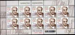 2012 Kazahstan - Russian Ethnograph Lev Gumilev - 100 Years Of Birth - Sheetlet Of 10 V - MNH** MI 752 - Kasachstan