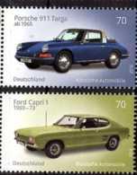 2016 Germany / BRD - German Classic Autos - Issue II - Porsche 911 / Ford Capri 1 - Set Of 2 V Paper - MNH** Mi 3201/2 - Ungebraucht