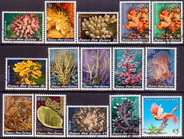 PAPUA NEW GUINEA 1982-85 SG #438-52 Compl.set Used Corals And Bird Of Paradise - Papua New Guinea