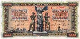Greece 5.000 Drachmai, P-119a (20.6.1942) - UNC - Griechenland