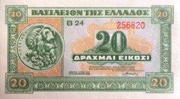 Greece 20 Drachmai, P-315 (6.4.1940) - UNC - Griekenland