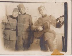 SERBIA , KINGDOM OF YUGOSLAVIA   -- SERBIAN ARMY  --    KADETTEN, MUSIKER  --  ORIGINAL PHOTO   8 Cm X 5,8 Cm - Militaria