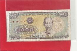 CONG HOA XA  HOI CHU NGHIA VIET NAM . 1.000DONG . ELEPHAN  . 1988 . N° FA 0881324   . 2 SCANES - Vietnam