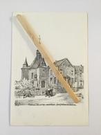 LA CHAPELLE NOTRE -DAME DE FOY -Loupoigne (1635)Maison Des Ermites ( Dessin De Pels) - Genappe
