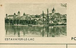 Carte Illustré Neuve N° 182 - 0125C   ESTAVAYER-LE-LAC (Zumstein 2009) - Stamped Stationery