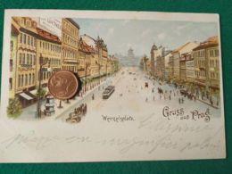 GRUSS AUS  Praga 1900 3 - Saluti Da.../ Gruss Aus...