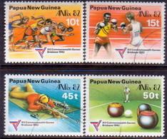 PAPUA NEW GUINEA 1982 SG #460-63 Compl.set Used Commonwealth Games - Papua New Guinea