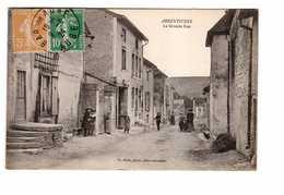 10 Arrentieres La Grande Rue Cpa Carte Animée Edit Rale Cachet 1924 - France
