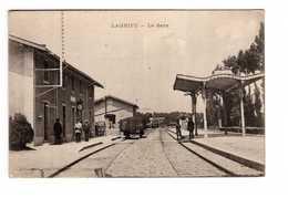 01 Lagneu La Gare Cpa Carte Animée , Voir état Ci Dessous - Otros Municipios