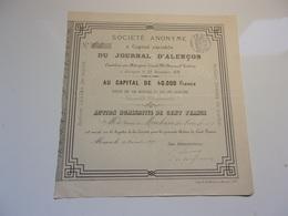 JOURNAL D'ALENCON (1878) ORNE  (au Baron De Mackau) - Actions & Titres