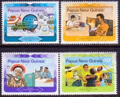 PAPUA NEW GUINEA 1983 SG #468-71 Compl.set Used World Communications Year - Papua New Guinea