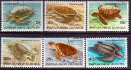 PAPUA NEW GUINEA 1984 SG #472-77 Compl.set Used Turtles - Papua New Guinea