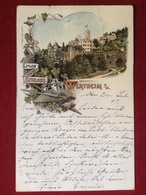 AK Wertheim Hochkantlitho Schloß 1897 - Wertheim