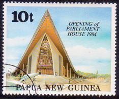 PAPUA NEW GUINEA 1984 SG #482 10t Used New Parliament House - Papua New Guinea