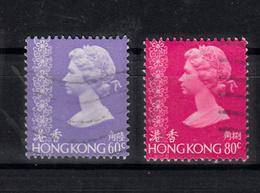 Hong Kong 1977 Mi Nr  334 + 336  Koningin Elisabeth II, - Hong Kong (...-1997)