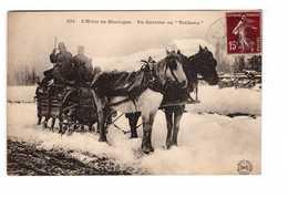 Poste PTT Facteur Distribution Du Courrier En Traineau L' Hiver En Montagne Cpa Carte Animée - Poste & Facteurs