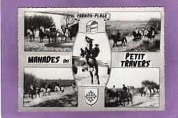 34 MAUGUIO CARNON PLAGE  MANADES Du PETIT TRAVERS Route De Carnon Au Grau Du Roi Multivues Blason - Mauguio
