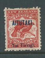 Aitutaki 1903 1 Shilling Scarlet Birds Mint , Gum Tone - Aitutaki
