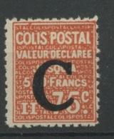 Colis 112 * Avec Très Légère Trace De Charnière  Cote 20,-€ - Colis Postaux
