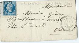 Lettre Type Napoleon N° 14A Obliteration Alet Saint Amanfd Montrond Paris - 1849-1876: Classic Period