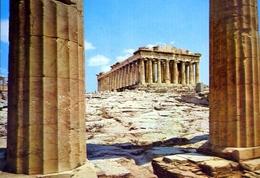Atene - Il Partenone Come Visto Dai Propilei - Formato Grande Viaggiata – E 9 - Grecia
