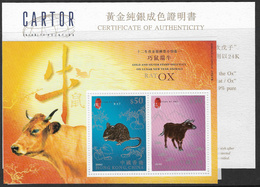 Hong Kong 2009 Rat/Ox Miniature Sheet With Certificate Unmounted Mint [3/3309/ND] - 1997-... Chinese Admnistrative Region