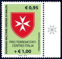 SMOM - ORDINE DI MALTA 2016 PRO TERREMOTO 60% DEL FACCIALE! - Malta (Orde Van)